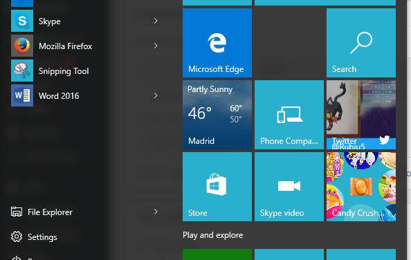 Barra de Buscar y Botón de inicio no funciona en Windows 10